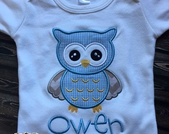 Owl Shirt, Owl Baby, Baby Boy Gift, Baby Shower Gift, Take Home Outfit, Owl Birthday Shirt, Boy Owl Shirt