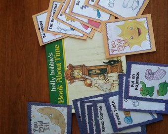 Holly Hobbie's Book About Time with Organizeitmom Routine Cards