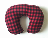 Boppy Cover, Nursing Pillow - Buffalo Check in Red and Black