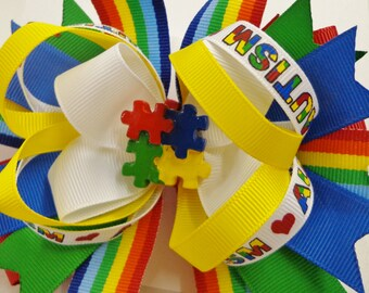 Support Autism with this sharp looking bow.
