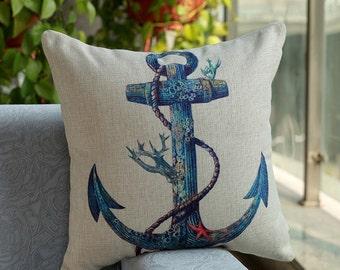 Sea Anchor Pillow Cover