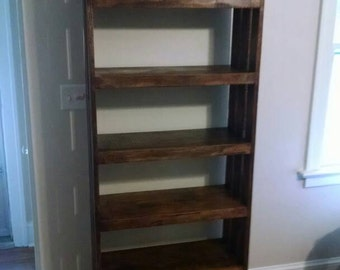 Reclaimed wood bookcase, rustic bookcase, bookcase, shelf