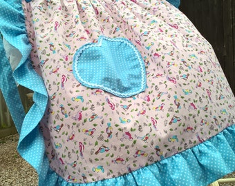 Retro-Style Pink and Blue Pinny