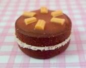 1:12 scale Chocolate & caramel flake cake....handmade.....miniature