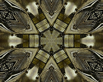 Crossroads Kaleidoscope, Fine Art Photography, Kaleidoscope, Abstract Photography, Digital Art