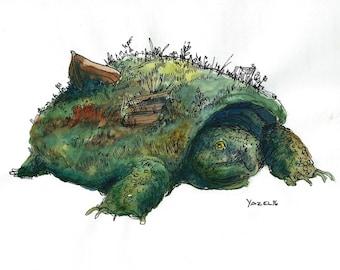 The Busco Beast- Cryptid Series- Print of my original illustration
