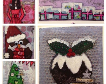 5 Christmas card bundle