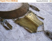 ON SALE vintage. NECKLACE. bib. Tribal. hmong. Butterfly. mixed metal. 1970s.