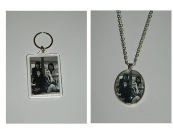 Abba Glass Pendant Necklace and/ or Keychain