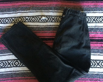Vintage Roper Brand High Waisted Black Denim Jeans