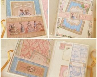 Princess Decor Mini Album - Marie Antoinette Gilded Lily - Princess Scrapbook - Paris French Romance Inspired Memory Album -  Graphic 45