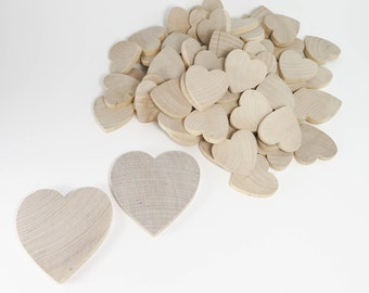Wedding Guest Book Set | Unfinished Wood Hearts | 1-1/2 inch Wooden Hearts | Wooden Hearts Kit