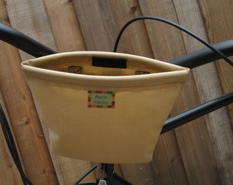 Small handlebar bag in tan