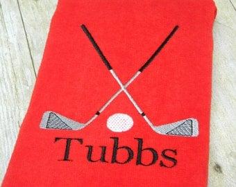 Custom Golf Towel, Personalized Golf Towel, Embroidered Golf Towel, Monogrammed Golf Towel, Personalized Golf Towel, Golf Gift, Gift for Dad