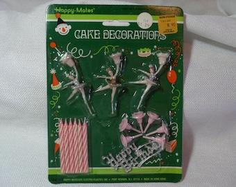 Vintage Cake Decorations, Vintage Ballerina Toppers, Ballet Toppers, Miniature Ballerina
