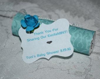 Baby Shower Favors // Shower Favors // Mint Baby Favors // Shower Favor // Candy Baby Shower Favor // Baby Boy Favor -- Set of 25