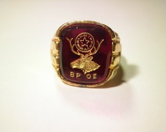 1 Multi Tone Adjustable Benevolent and Protective Order of Elks Ring
