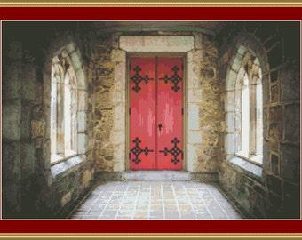 Church Door Cross Stitch Pattern