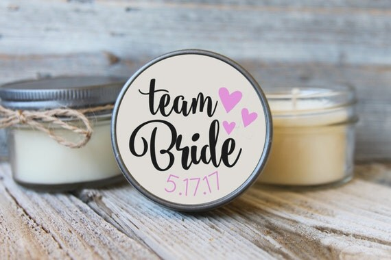 Set of 12 - 4 oz Soy Candles - Team Bride Candles//Team Bride Shower Favors//Team Bride Favors//Bride Tribe//Bridal Brigade