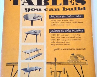 1954 Tables You Can Build Mid Century Modern Plans Dining Coffee End