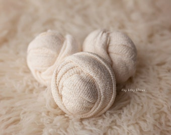 Ivory Newborn Wrap, Newborn Photo Prop, Ivory Stretch Wrap, Basic Stretch Wrap, Newborn Stretch Knit Wrap