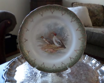 "Imperial Semi Vitreous China Elegant/Fancy Wood Duck 8"" Plate/Dish"