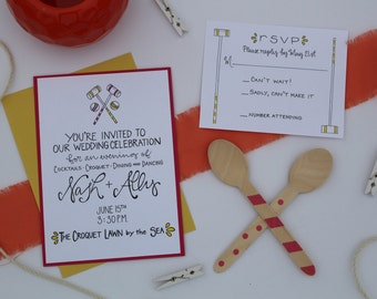 Party Invitation / Preppy / Crouquet