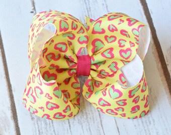 Valentine Hair Bow, Valentine Hair Bows, Hair Bows for Girls, Girls Hair Bows, Hairbows, Toddler Hair Bows, Valentine Day Hair Bow, Hair Bow
