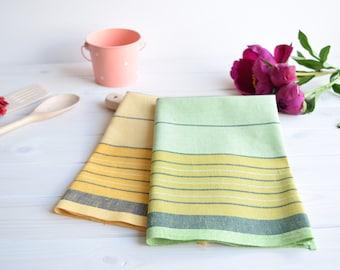 Linen kitchen towel set of 2 with cotton, kitchen towels, dish tea towel, linen hand towel, dish towels, linen tea towel, hand towel
