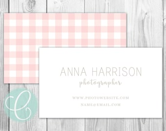 Business Cards / Calling Cards - Printable or Printed - Gingham