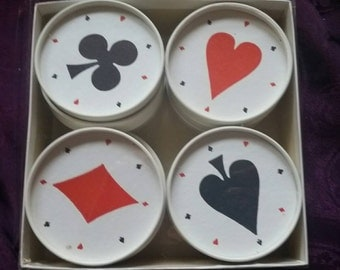 Card Party Coasters   12 in aet
