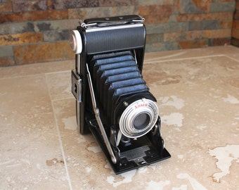 Ansco Viking Readyset camera - 1950s camera with bellows - Ansco Germany camera - collectible camera - Ansco 120 camera