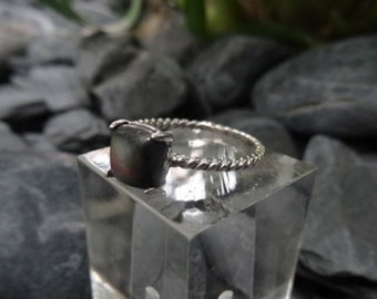 Labradorite ring. Sterling silver. Second hand.