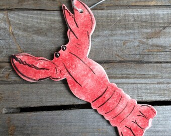Lobster ornament, Maine Lobster ornament, Massachusetts Ornament, nautical ornament, Cape Cod lobster ornament, nautical Christmas ornament