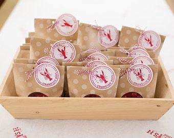 Custom Crawfish Boil Wooden Stamp | Event and Wedding Stamps | Monogram Rubber Stamp | DIY Wedding Favor Tags