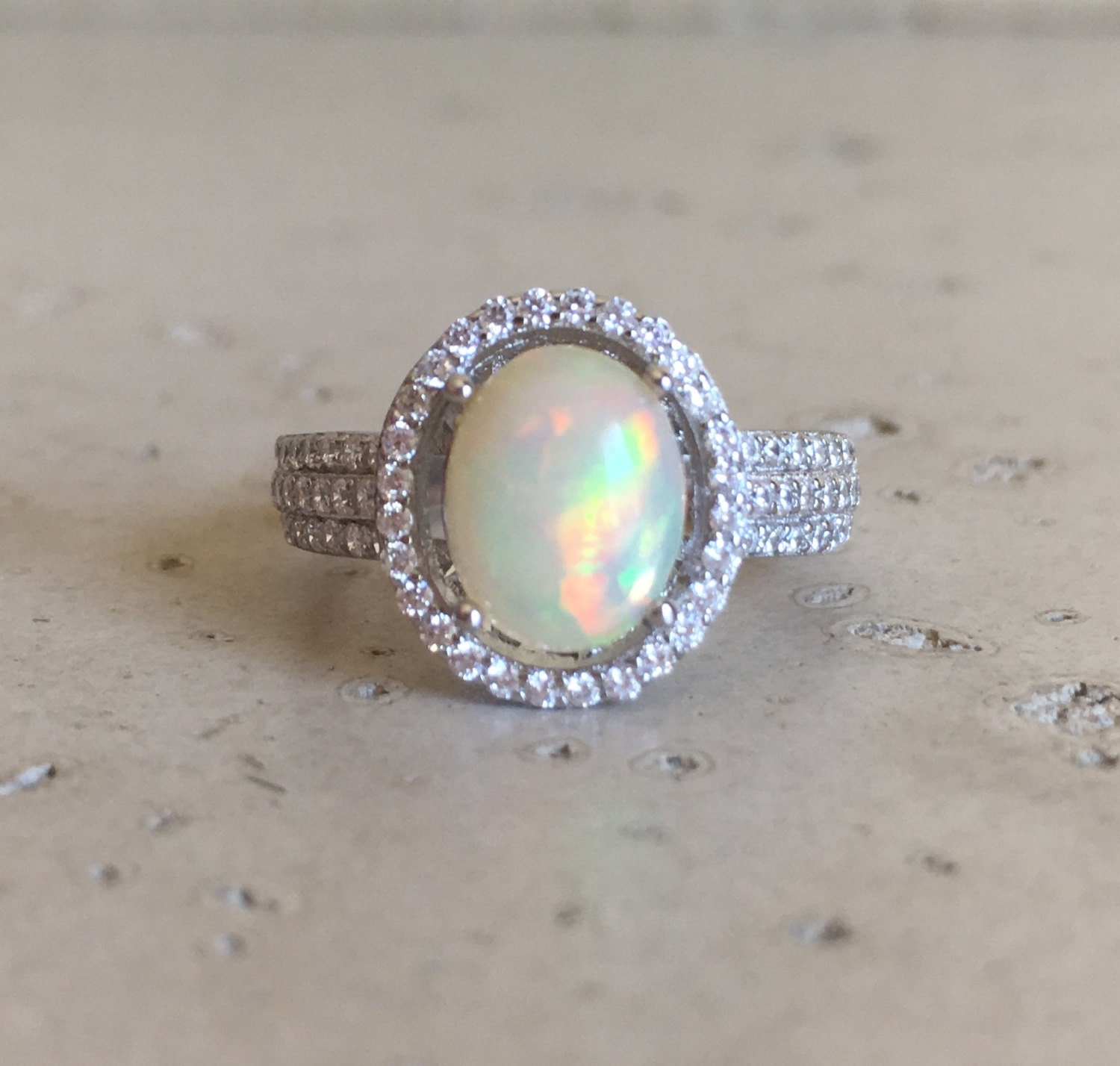 fiery opal engagement ring oval opal promise ring opal