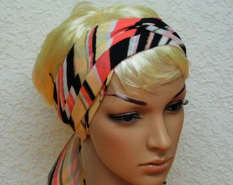 Ultra long hair band, headband, hair wrap, hair covering, head scarf, hair scarf, 148 x 7 cm