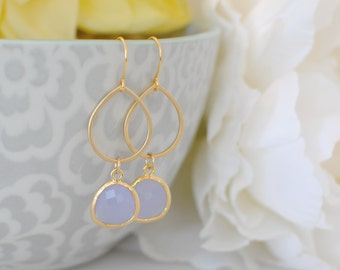 The Tori  Earrings - Lavender