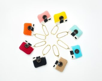 The Vintage Camera Crochet Keychain
