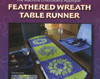 Feathered Wreath Table Runner