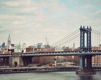 New York photography, fine art photograph, NYC wall art, New York City print - Manhattan Bridge