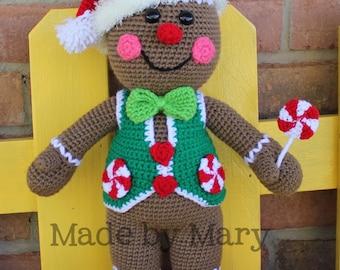 PDF Pattern: Gingerbread Boy Crochet Pattern *Crochet Pattern Only, Not Actual Doll*