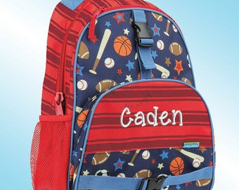 Backpack - Personalized and Embroidered - All Over Print Backpack - SPORTS