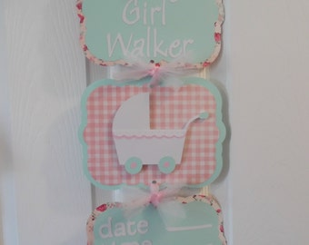 Baby Girl Hospital Banner-Baby Carriage Hospital Banner