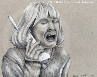 Drew Barrymore in Scream, Fine Art Print