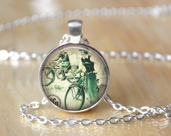 Bicycle Necklace - Bicycle Pendant - Bicycle Jewelry L36