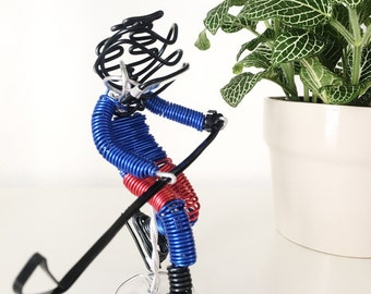 Hockey Player Sculpture