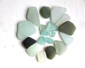sea glass jewelry quality sea foam aquamarine green aqua beach seaglass jewellery supplies art&craft supply vintage beads necklace (325)