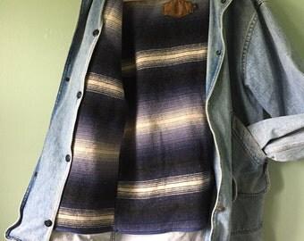 Vintage Woolrich Navajo Blanket Lined Chore Coat