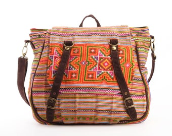 Hippie Travel Bag Student Backpack Southwest Native Ethnic Casual bag/ Cloth Bag